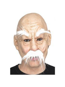 mascara de abuelo con cejas y bigote extra largos