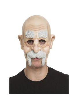 mascara de anciano con bigote sin barbilla