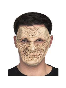 mascara de anciano en descomposicion