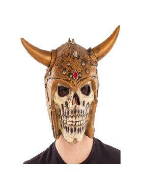 mascara de calavera vikinga para adulto