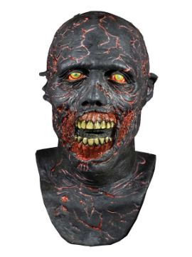 mascara de caminante carbonizado de the walking dead latex