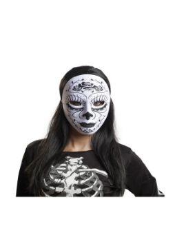 mascara de catrina blanca y negra
