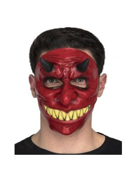 mascara de diablo roja con cuernos