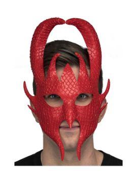 mascara de dios guerrero nordico rojo