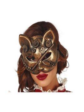 mascara de gato steampunk pvc