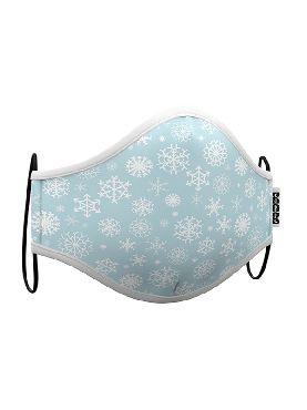 mascarilla de copo nieve azul