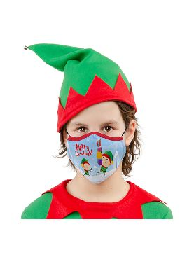 mascarilla de elfo infantil y adulto