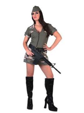 disfraz de militar camuflaje para mujer