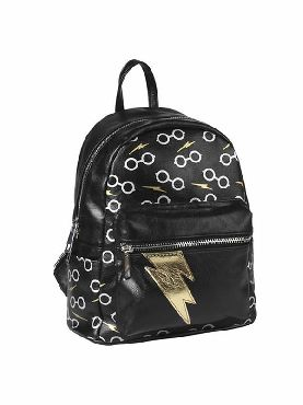 mochila de harry potter polipiel negro