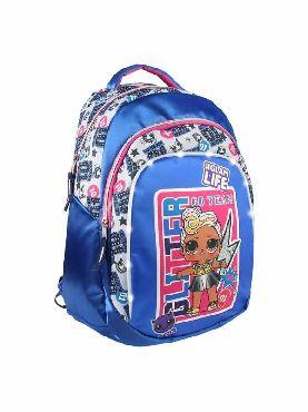 mochila lol con luces escolar azul
