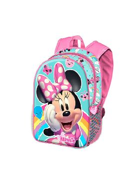 mochila minnie disney 3D rainbow 31 cm