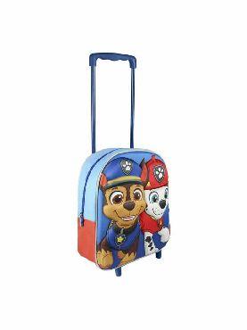 mochila patrulla canina con carro 3D infantil