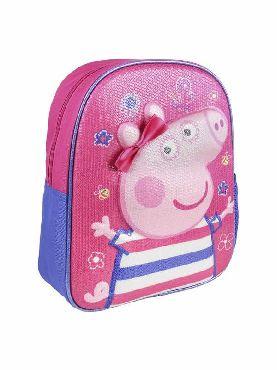 mochila peppa pig rosa 3D infantil