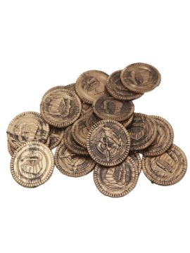monedas de pirata imitacion oro