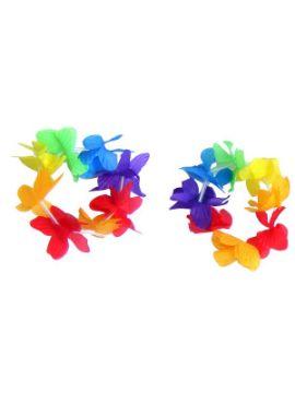 muñequeras hawaiana de colores