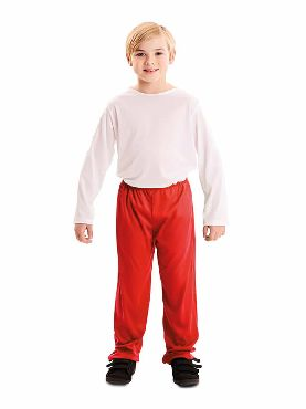 pantalon rojo para infantil