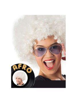 peluca afro gigante blanco