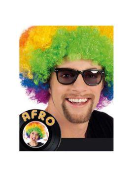 peluca afro gigante multicolor