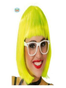 peluca amarilla media melena mujer