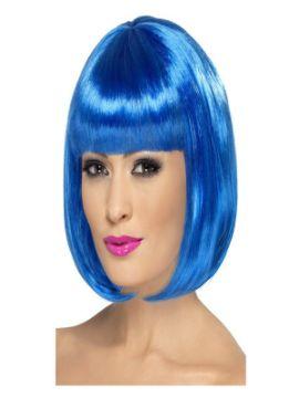 peluca corta azul electrico adulto