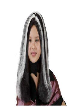 peluca de bruja con mechas niña