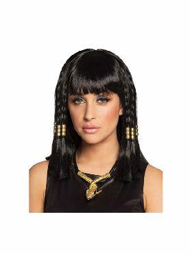peluca de egipcia cleopatra negra