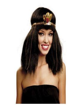 peluca de egipcia morena