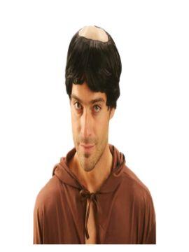 peluca de fraile o monje con calva adulto