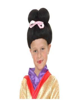peluca de geisha para niña