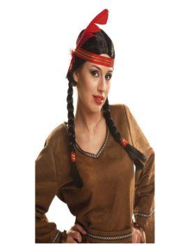 peluca de india con trenzas
