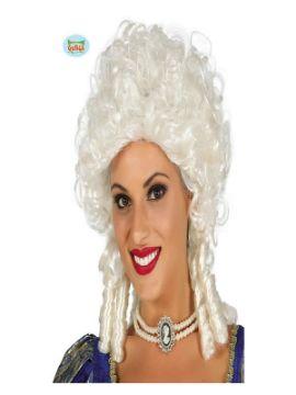 peluca de marquesa blanca mujer
