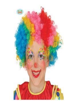 peluca de payaso multicolor infantil