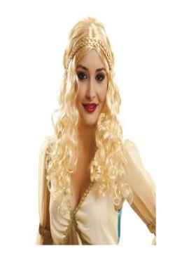 peluca de princesa de los siete reinos rubia