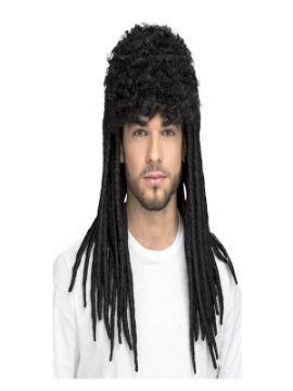 peluca de rastas negras xxl