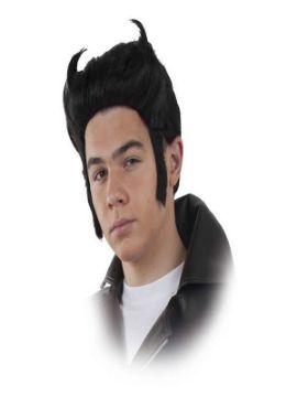 peluca de rockabilly negra hombre