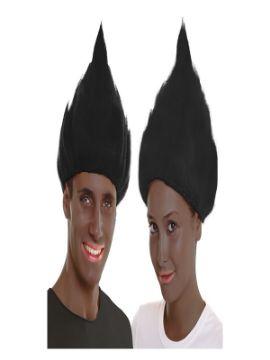 peluca de troll negra
