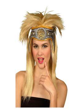 peluca de vikinga rubia con banda adulto
