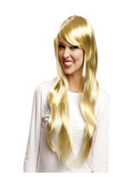 peluca larga fashion rubia
