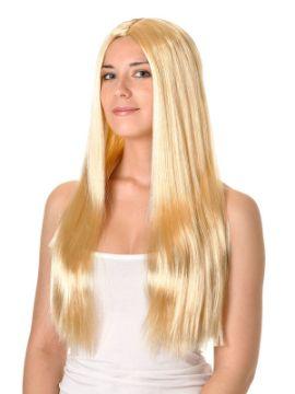 peluca larga lisa varios colores