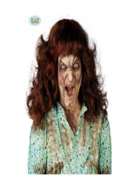 peluca niña del exorcista morena adulto