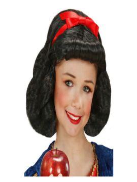 peluca de princesa blancanieves