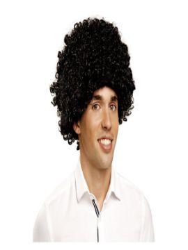 peluca rizada negra