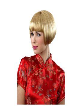 peluca rubia corta