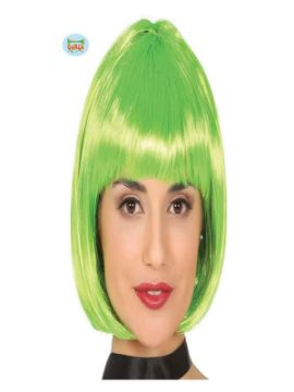peluca verde media melena adulto