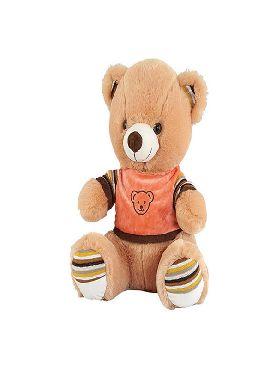peluche de oso marron jersey 45 cm