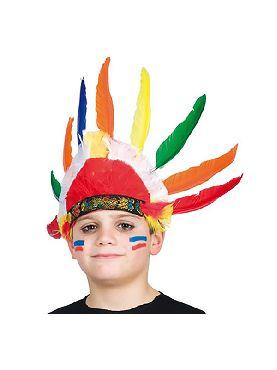 penacho de indio 9 plumas infantil