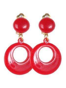 pendientes de andaluza rojos para niña
