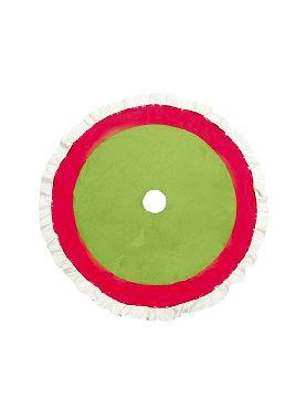 pie de arbol rojo verde y blanco 90 cms