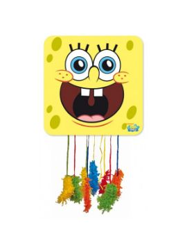 piñata de bob esponja mediana de 43 x 43 cm infantil