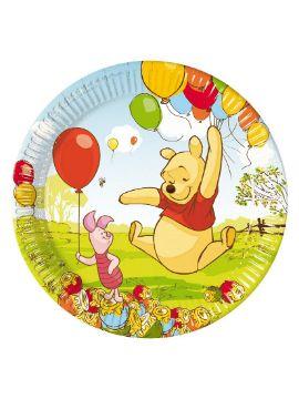 platos winnie the pooh 8 unidades para cumpleaños